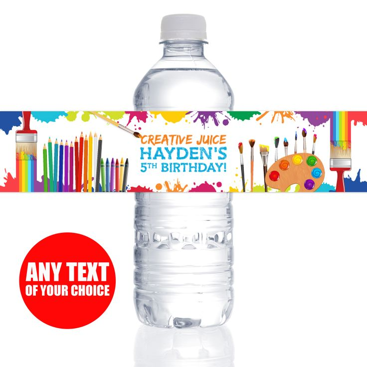 Artist PERSONALIZED Bottle Labels - 10 Pk Party Supplies Canada - Open A Party