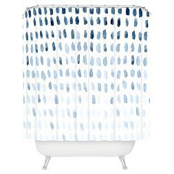 "Proof of Life Shower Curtain - Blue (71"" x 74"