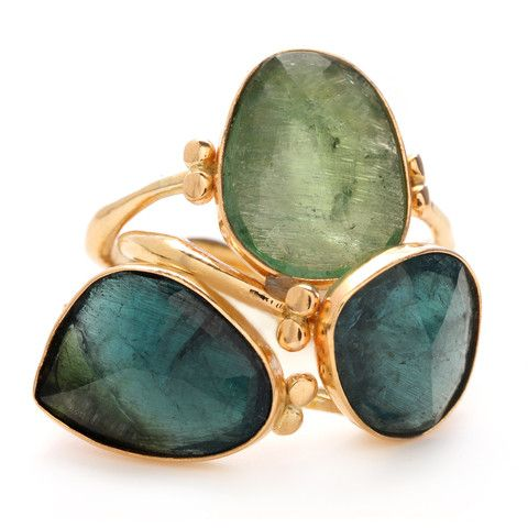 ROSECUT TEAL TOURMALINE | Emily Amey Jewelry