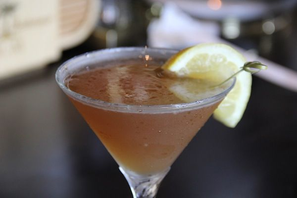 Happy Hour: Bourbon Street hits Vermont with an island twist... This unique Bourbon Martini is one of numerous signature martini options available at Legends Restaurant in New Suffolk.