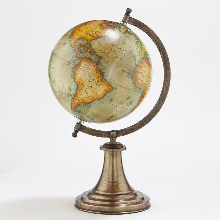 Antique Green Globe with Brass Stand | World Market $29.99