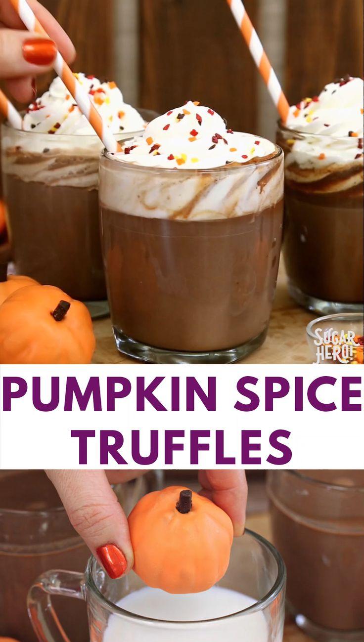Pumpkin Spice Hot Chocolate Truffles Video