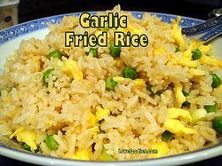 Garlic Fried Rice - Always a popular dish, serve as a side with our Chinese Sticky Chicken Wings. Yummy!  Lovefoodies.