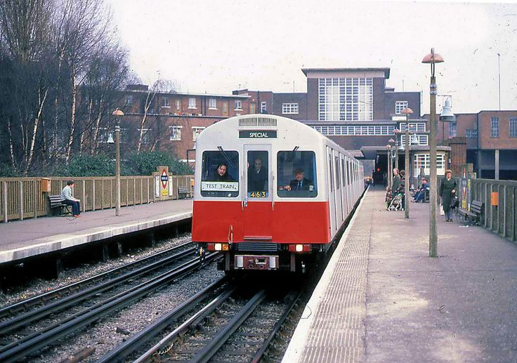 D Stock test train at Rayners Lane