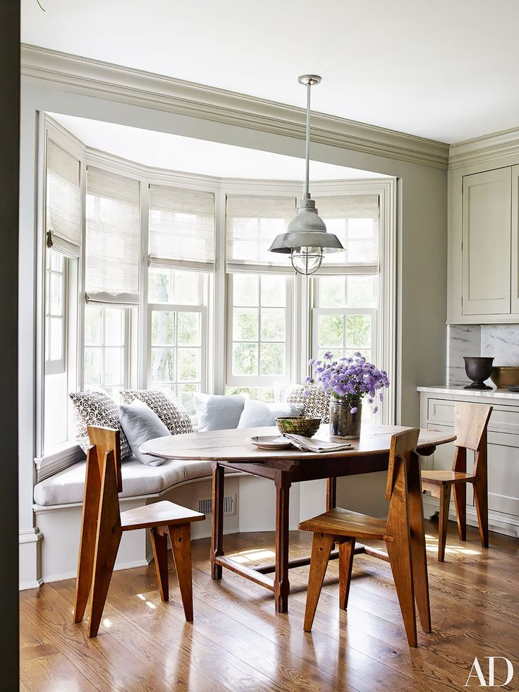 Breakfast nook // 15 Feminine Rooms From Our Favorite Fashion Insiders via @MyDomaine