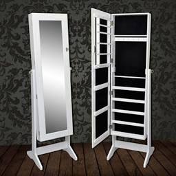 Espejo joyero blanco con cajonera armario joya gabinete - VIDAXL