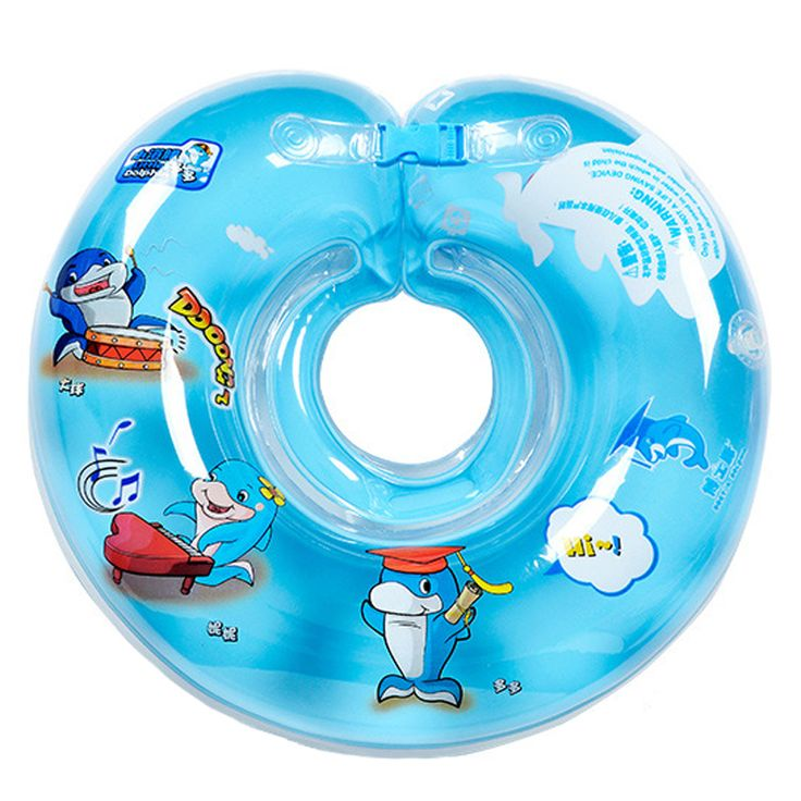 Baby Neck Float Swimming Newborn Baby Swimming Neck Ring Mattress Cartoon Pool Swim ring for 0-24month