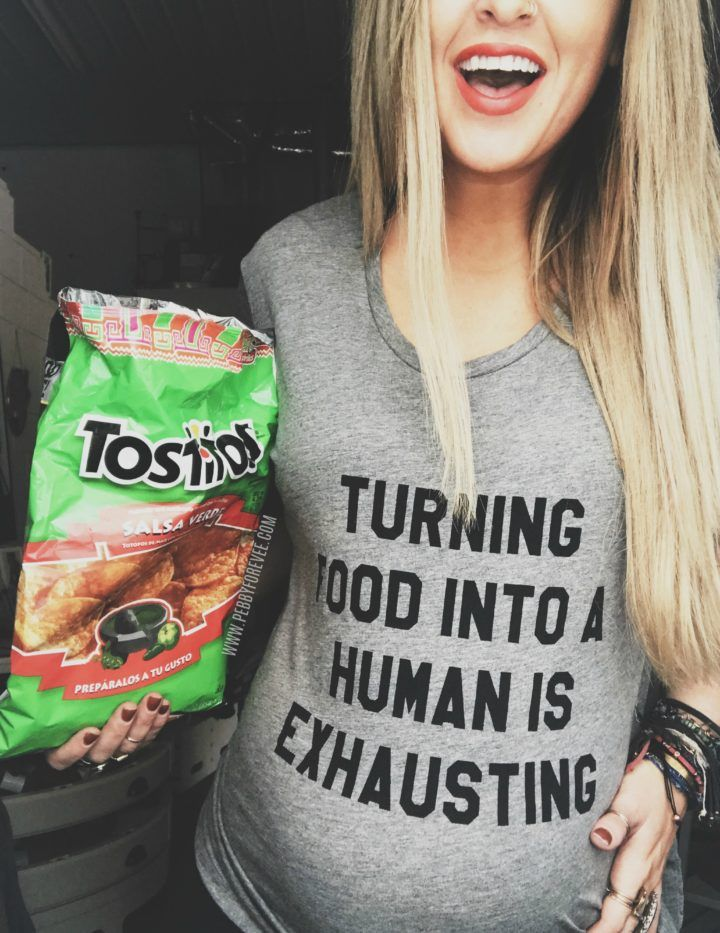TURNING FOOD INTO A HUMAN IS EXHAUSTING MATERNITY CUSTOMIZABLE TEE