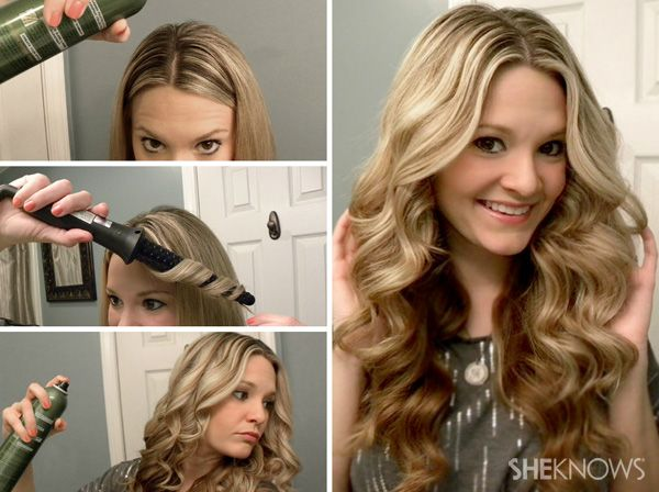 How to get bombshell curls