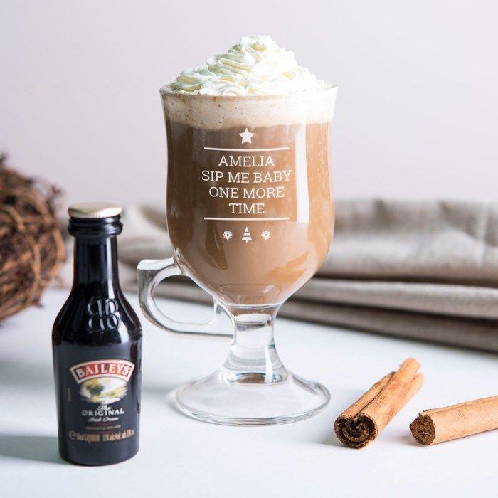 Personalised Irish Coffee Glass - Sip Me Baby | GettingPersonal.co.uk