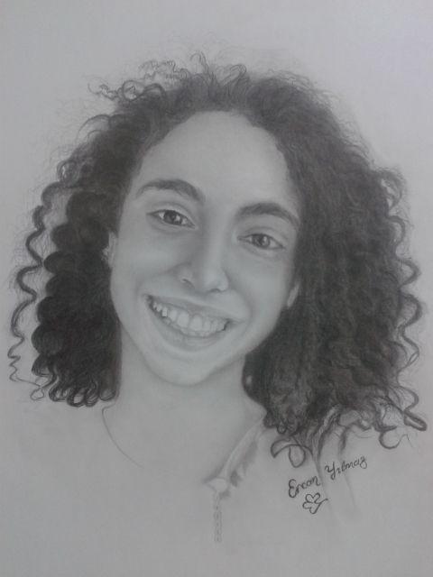 prenses melike#princess#melike#resim# sanat#karakalem çizim#kıvırcık#curly#hair#saç#art#pencil#karakalem#çizim#drawing#paint# painter Ercan Yılmaz#painter#ercan#yılmaz