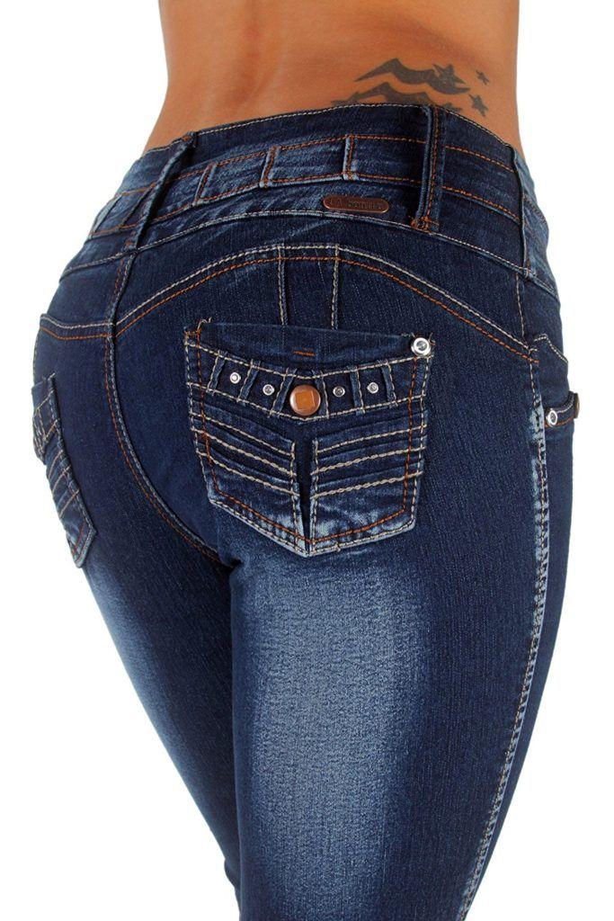 LA BONITA JEANS Style LA6A174S – Colombian Design, Mid Waist, Butt Lift, Skinny Jeans