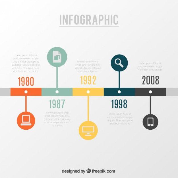 Infográfico Timeline                                                                                                                                                      More