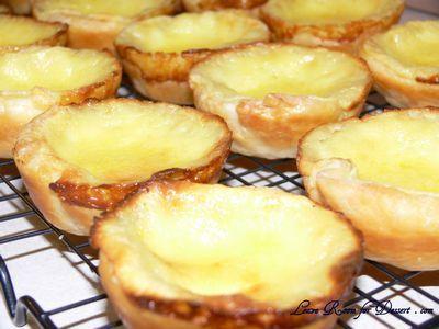 Protuguese Custard Tart.     I serve it with icing sugar and cinnamon on top. these custard tarts are yum!