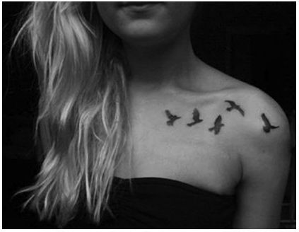 birds tattoo on collar bone - Google Search
