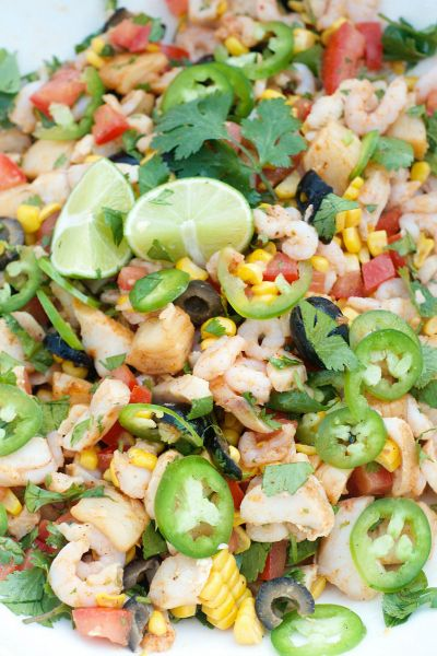 Mixed Seafood Ceviche Recipe | reluctantentertainer.com at @kitchenaidusa