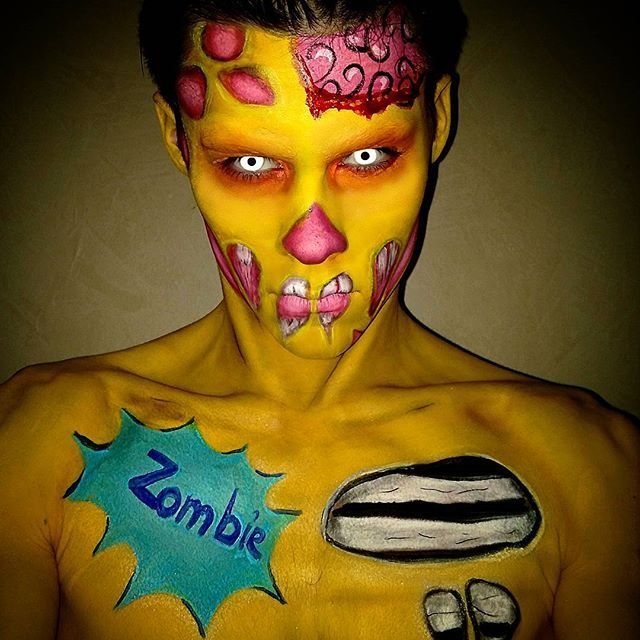 Zombie Pop Art makeup. ---------------------------------------------------------------------------- #artmua #faceart #mua #makeup #art #makeupartist #makeupart #creativemakeup #makeupaddict #instamakeup #cosmetics #facepainting  #dupemag #facepaint #bodypainting #bodypaint #facepainter #artistmakeup #makeupmafia #makeupbrush #motd  #amazingmakeupart  #beautyff #zombieartpop  #zombiemakeup  #zombiepopart  #makeupzombie  #popartmakeup  #popart  #makeuppopart