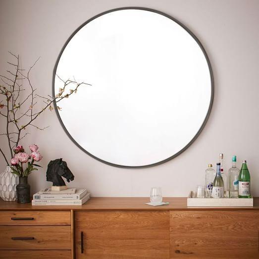 Metal Framed Oversized Round Mirror | west elm