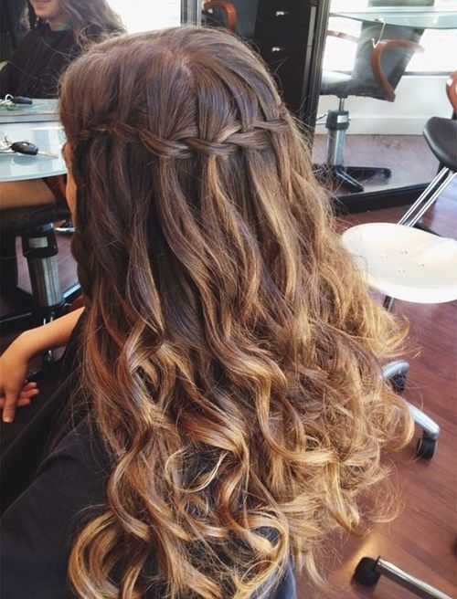Best 25 Waterfall Braid With Curls Ideas On Pinterest