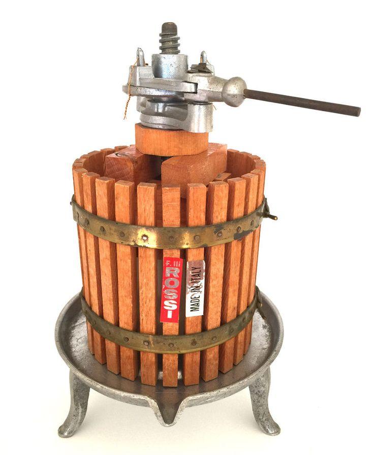 Vintage ROSSI Scale Model Wine Ratchet Press * Salesmans Working Sample *