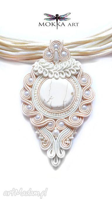 Komplet biżuterii sutasz lacreme naszyjnik kolczyki ślub mokkaa