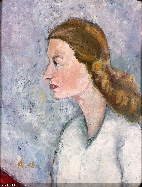 Portrait de femme by Alexandru Ciucurencu, 1903-1977 (Romania)