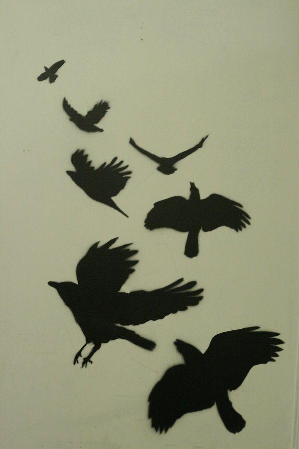 crow stencil by rust-ee on DeviantArt