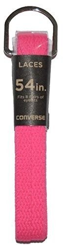 Converse Unisex Replacement Cord Shoe Laces Flat Style Shoelaces (Neon Pink, 54)