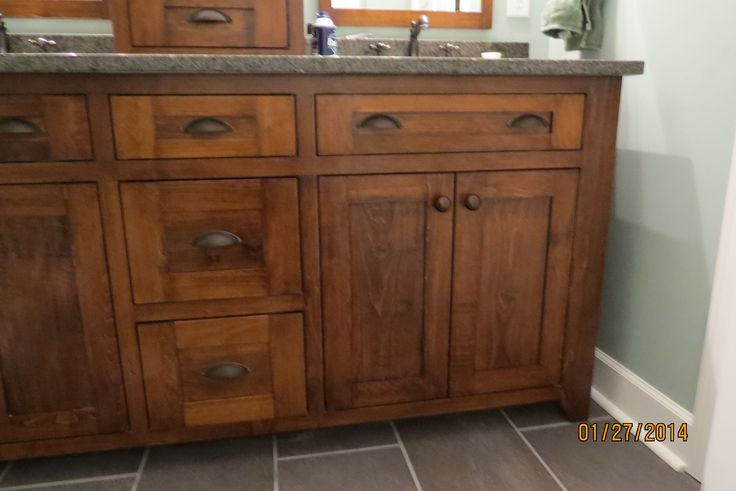 Amish Built Bathrooms : My amish made master bathroom vanity bathrooms