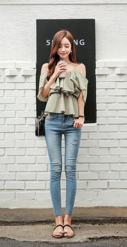 美脚, キレイな女性, カジュアルアジアンファッション, 韓国ファッション, 長ズボン,