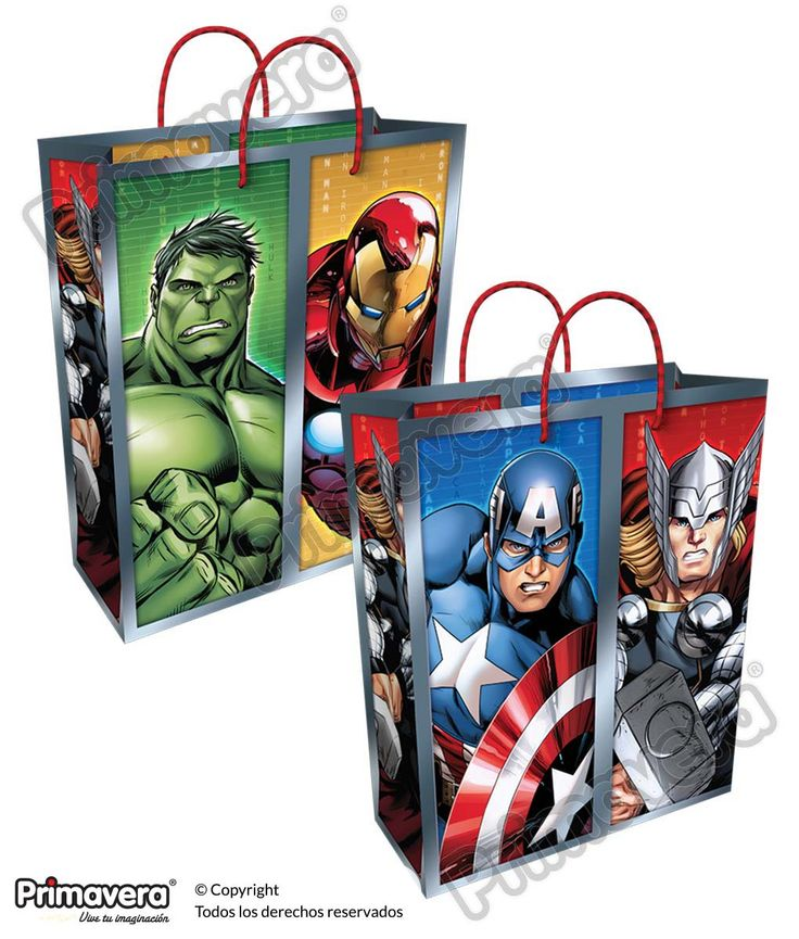 Bolsa Regalo Avengers http://envoltura.papelesprimavera.com/product/bolsa-regalo-personajes-avengers-2/