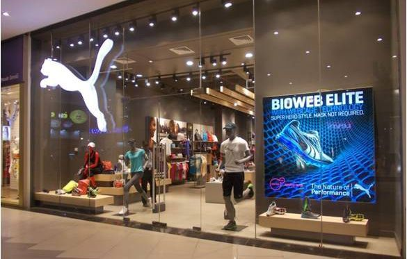 Puma stores across the country are presently sporting this in-store display, which will be featured till June.