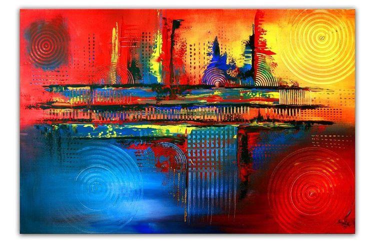 Xxl Bilder Leinwand ~ Burgstaller original xxl gemälde leinwand bilder abstrakt