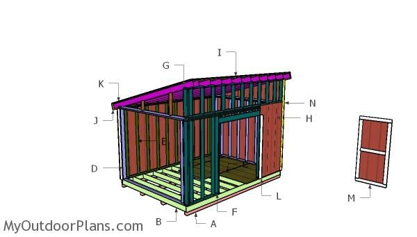 Building a 10x14 lean to shed