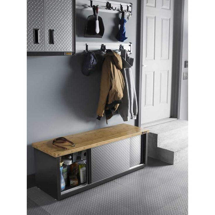 Discount prices on this Gladiator GAGB54SBYG Storage Bench today from Garage Storage Direct at U-Sav.com.