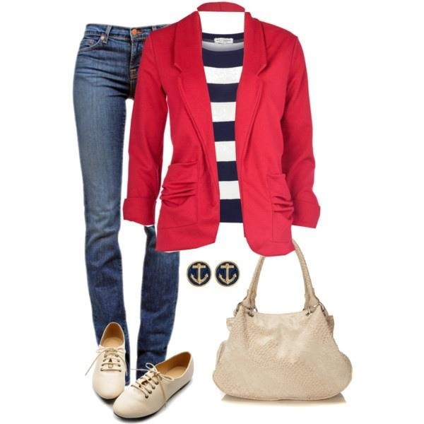 Love this color blazer. I'm looking for somewhat more casual blazers I can wear with jeans.