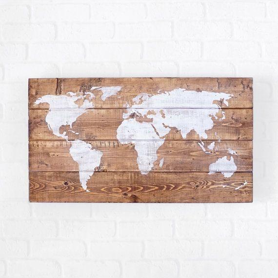 Love!! World Map 25x14'' World Globe World Map Wall Art by SilvaDesignLLC