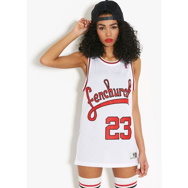Fenchurch Basketball Vest ($7.72) ❤ liked on Polyvore featuring outerwear, vests, outfits, models, shirts, tops, white, fenchurch, vest waistcoat and white waistcoat