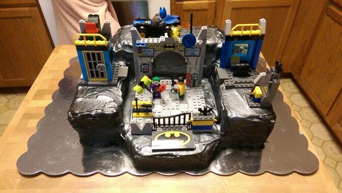 I Designed And Made This Lego Batman Batcave Birthday Cake