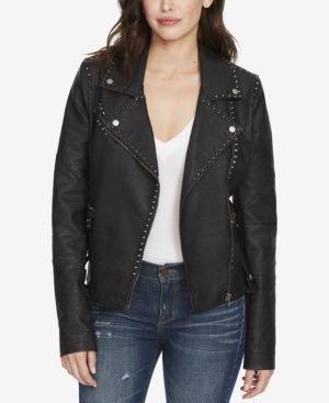William Rast Audacious Alexa Studded Faux-Leather Jacket - Black XXL