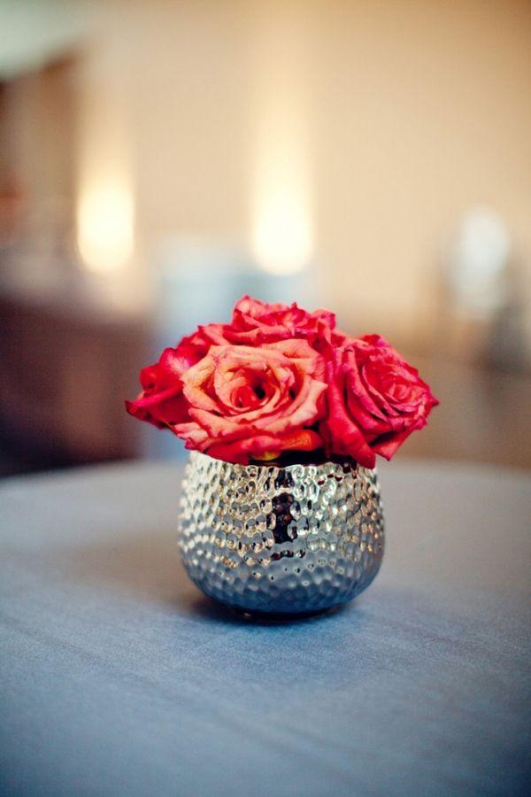 Best small rose centerpiece ideas on pinterest
