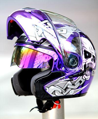Мэри детский шлем мотоциклетный шлем MASEI выставить козырек 803 покрытие череп кито фиолетовый нью-джерси