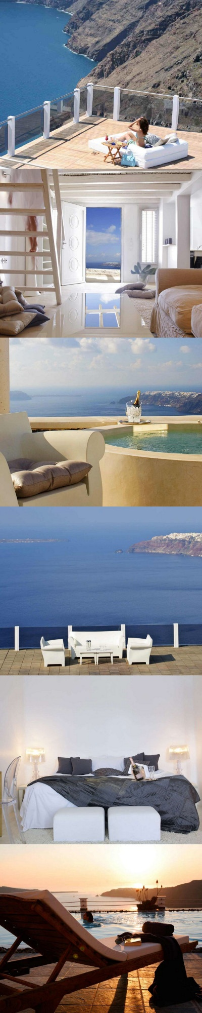 If you want a hotel with stunning views you should take a look at Santorini, Greece. This island offers marvelous views but no beaches as it is a volcanic island. It has been said that the sunsets in Santorini are the best in the world.