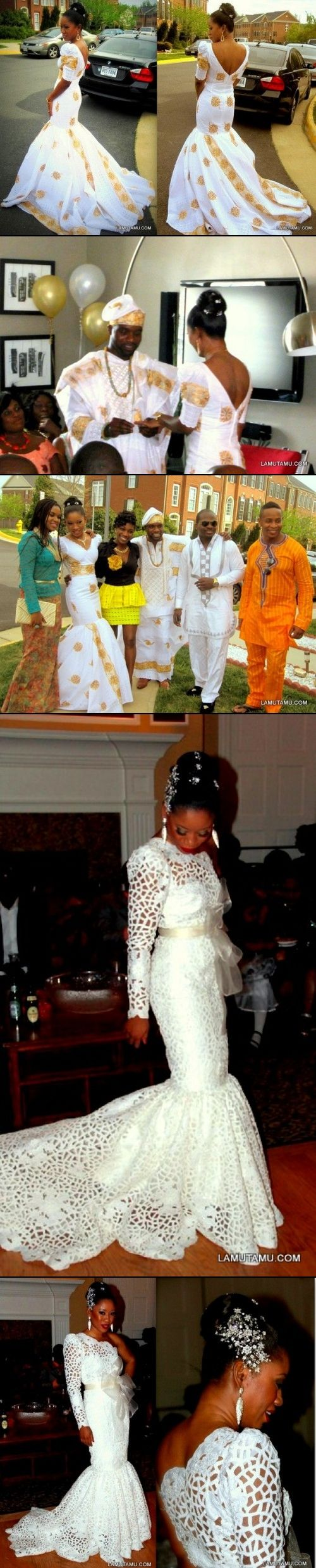 African Bride - engagement party dress, wedding dress