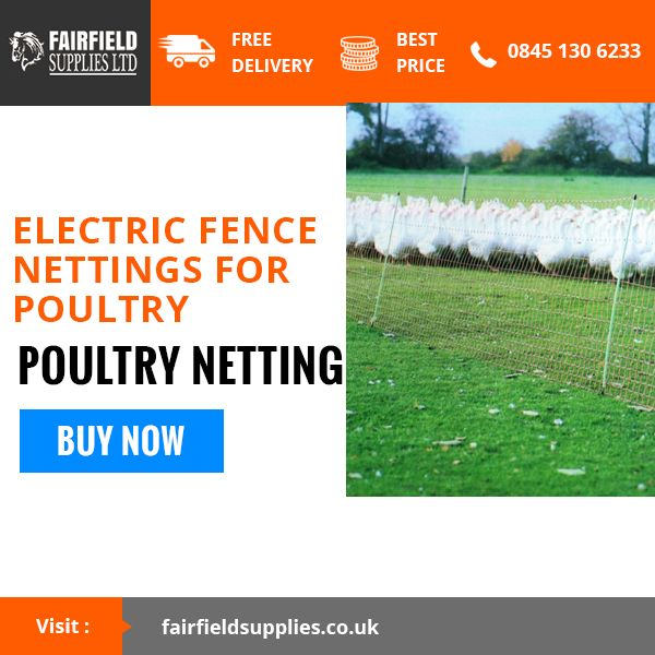 Provide Your Animal With The Perfect Safe Shelter Of Electric Fencing. Buy This Exclusive Poultry Netting Today !!!! #Britishfarming #UKfarming