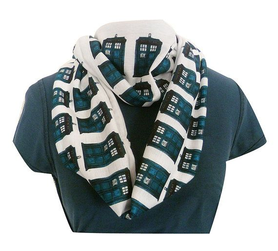 Doctor Who TARDIS Scarf U.K.-based Rooby Lane creates playful made-to-order clothing with fantasy and science fiction themes from books, movies and television shows like Doctor Who, Lord of the Rin...