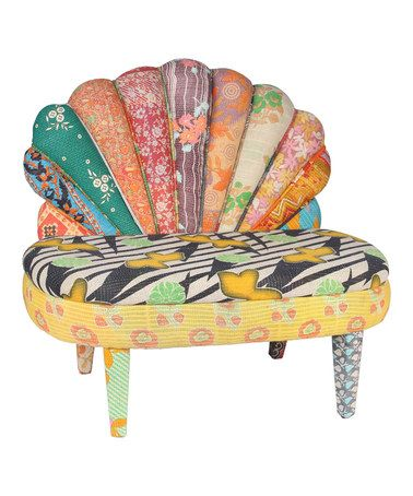 Loving this Gray & Sea Green Patchwork Peacock Love Seat on #zulily! #zulilyfinds
