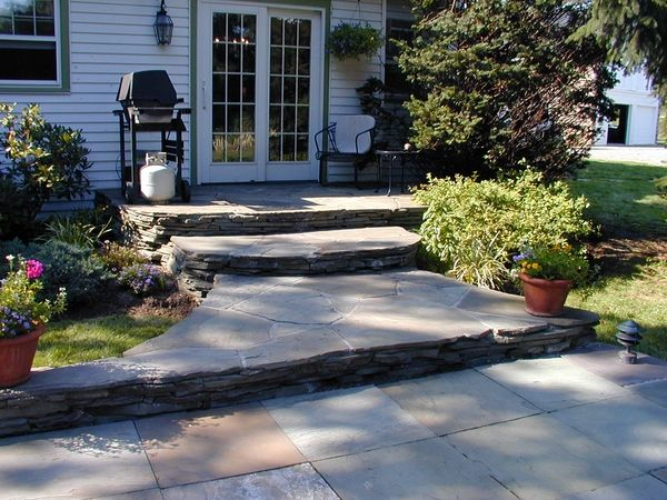 backyard patio ideas stone brick etc | concrete terrace ideas ... - Driveway Patio Ideas