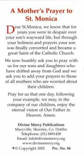 Askong st. Monica to pray for our children.