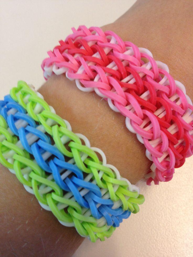 Loom Bands Triple Single Bracelet Loom Bands Pinterest
